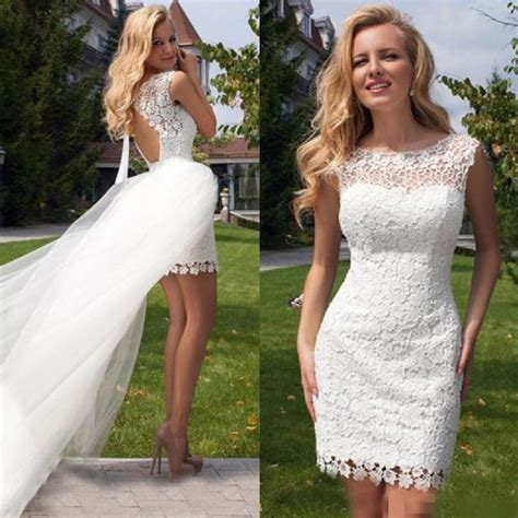 Casual Wedding Dresses Large Size 40 by Discount 2016 Wedding Dresses With Detachable