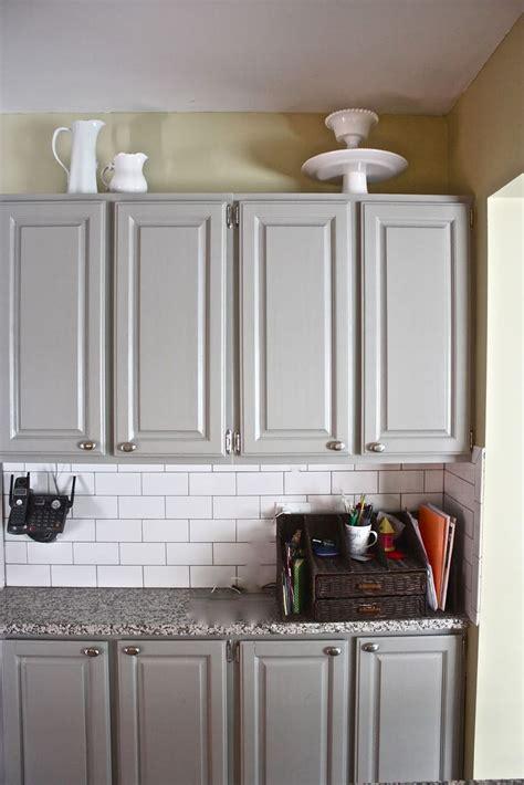 yellow cabinets gray walls grey cabinets yellow wall subway tile granite kitchen
