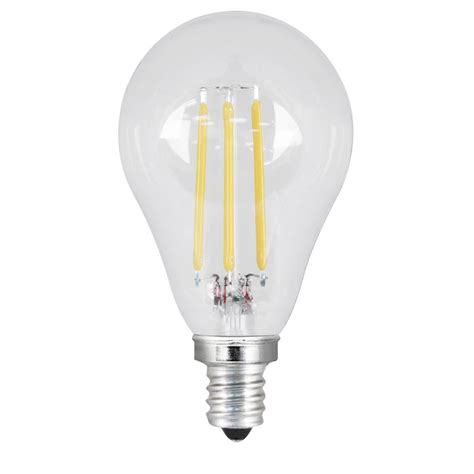 Clear Led Light Bulbs Feit Electric 60w Equivalent Daylight A15 Dimmable Clear Filament Led Candelabra Base Light Bulb
