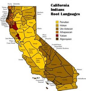 california american tribes map california indians language groups