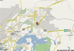 sudbury canada map map of comfort inn sudbury sudbury