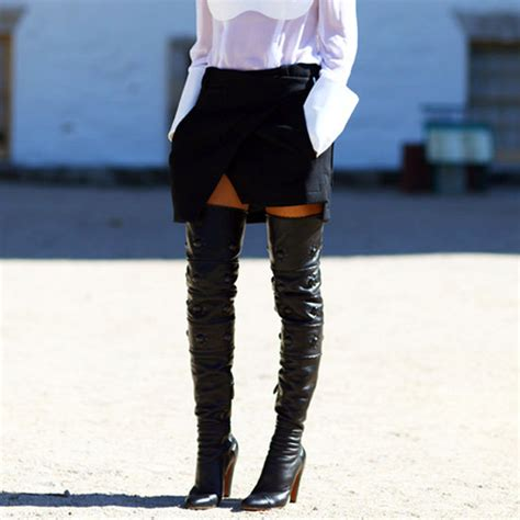 thigh high boots  tips    wear   dresses