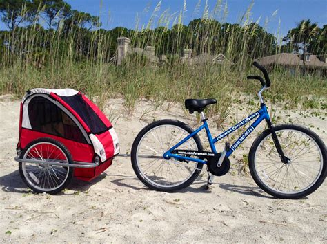 bike attachment for 26 quot bike w kiddie cart attachment 2017 fleet vacation comfort rentals