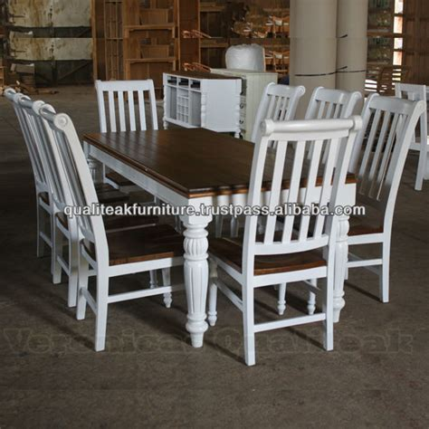antique dining table sets white painted provencial