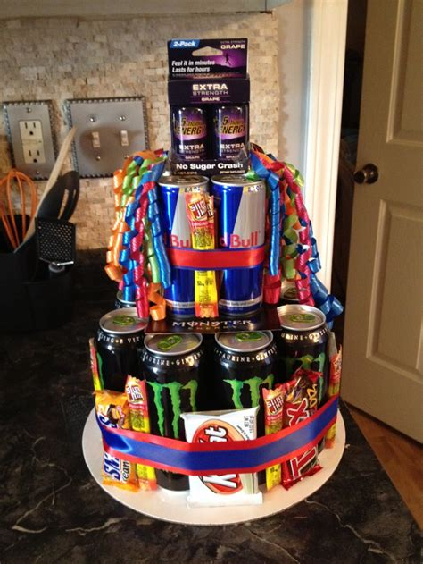energy drink gift basket replace the bull with more monsters and the green