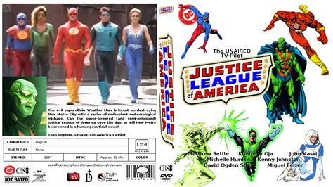 justice league of america film 1997 justice league of america the unaired pilot 1997 by