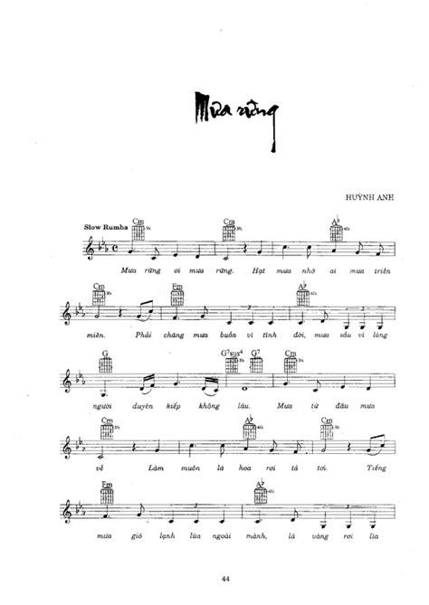 MƯA RỪNG - 1000 Bài Sheet nhạc hay