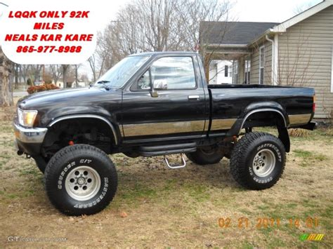 toyota pickup 4x4 1989 black toyota pickup sr5 regular cab 4x4 45497528