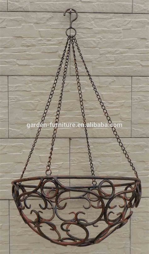 Wrought Iron Hanging Planters by Wholesale Handicraft Garden Outdoor Decor Hanging Flower