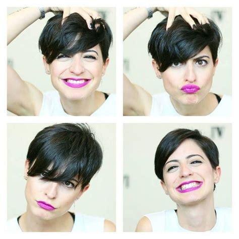 haircut to a beautiful brunette pixie youtube les 129 meilleures images du tableau coupe de cheveux sur