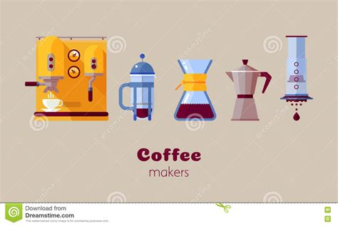 flat design video maker coffee maker icon stock vector image 78142082