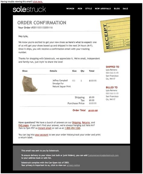 Order Receipt Email Template by 17 Best Images About Ecommerce Mails On Email