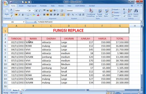 cara membuat database dengan excel 2003 fungsi replace pada microsoft excel just click the picture