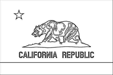 california flag coloring page purple kitty