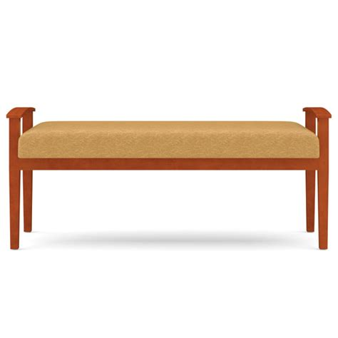 waiting room bench seating lesro amherst open arm 2 seat bench designer fabric