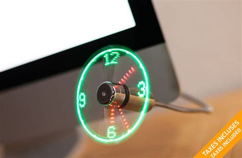 gadget de christmas uk tuango 24 99 for a holographic usb led fan clock value of 56 taxes included