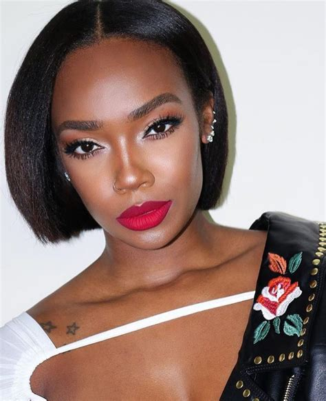 black women hairstyle with middle part middle part short straight bob hairstyles wigs for black