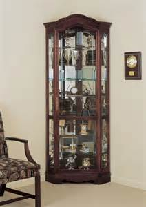 Small Cherry Wood Curio Cabinet Howard Miller Jamestown Cherry Wood Corner Curio Cabinet