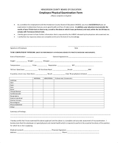 7 sports physical form sample free example format download vawebs