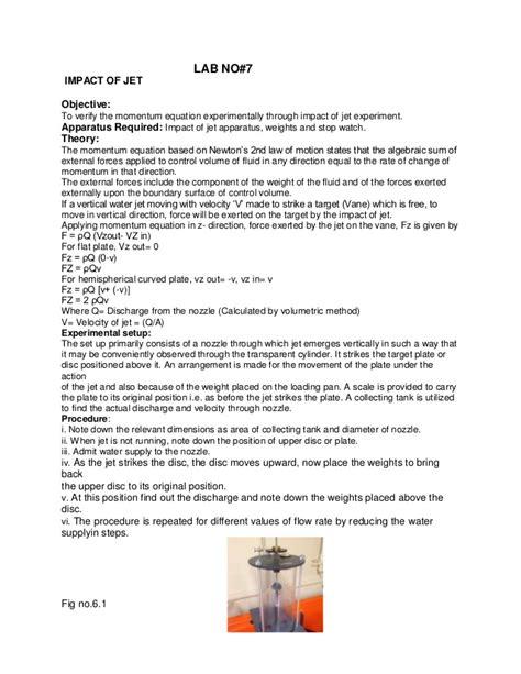 design experiment for fluid mechanics experiment no 7 fluid mechanics lab