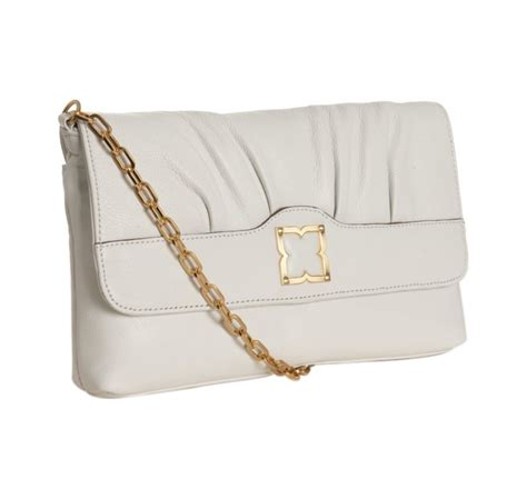 Bag Fatale by Bcbgmaxazria Antique White Leather Femme Fatale Crossbody