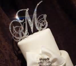 monogram wedding cake topper swarovski monogram cake topper glitzy wedding by panachebride