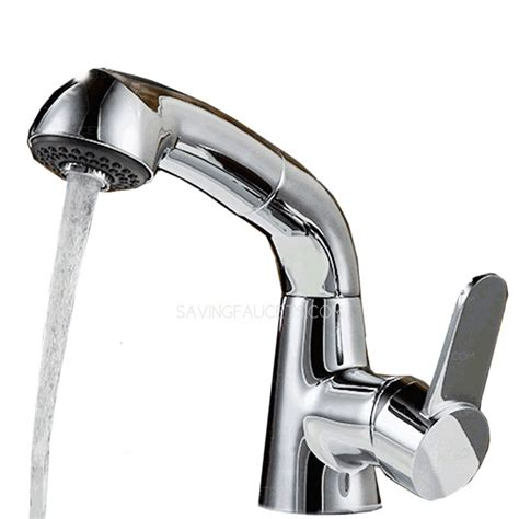 bathtub pull out faucet chrome finish bathroom faucet with pull out sprayer 80 99