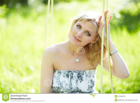close up spread blonde slit outdoor portrait of a beautiful woman stock images image