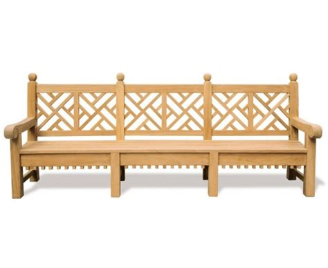 decorative garden bench chiswick teak chinese chippendale bench 2 75m decorative