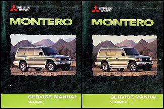 hayes car manuals 2000 mitsubishi montero auto manual 2000 mitsubishi montero repair shop manual set original