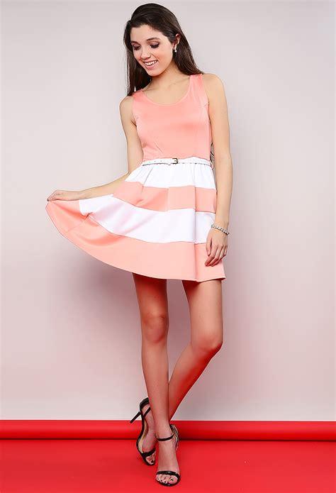 Belted Stripe Dress Size L belted stripe dress shop dresses at papaya clothing