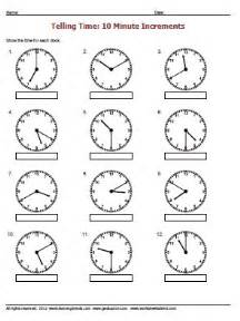 telling time to the nearest minute 10 worksheet