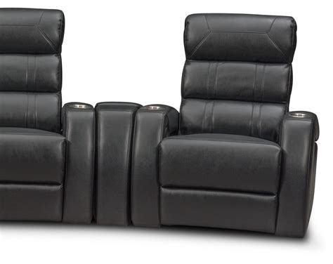value city furniture theater chairs bravo 5 power reclining home theater sectional