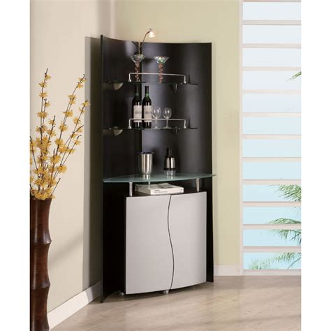 corner bar cabinet black dayane bar cabinet with display gotofurniture