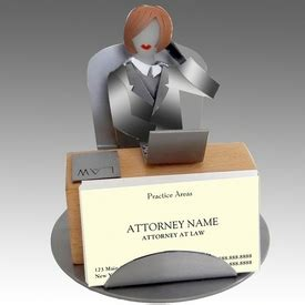 Whimsical Desk Accessories Whimsical Attorney Metal Business Card Holder Office Supplies