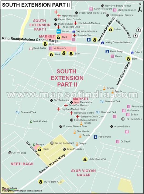 South Extension II Map