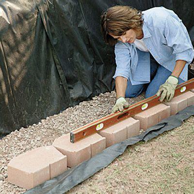build  retaining wall  landscape blocks building