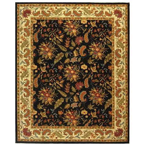 9 X 11 Area Rugs Safavieh Chelsea Black 8 Ft 9 In X 11 Ft 9 In Area Rug Hk141b 9 The Home Depot