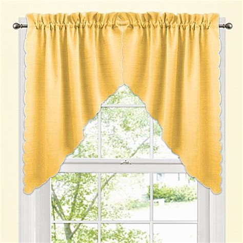 yellow valance curtains buy yellow curtains from bed bath beyond