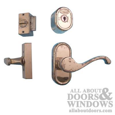 Deadbolt For 1 Inch Thick Door - larson 1 1 2 inch thick door hardware brass