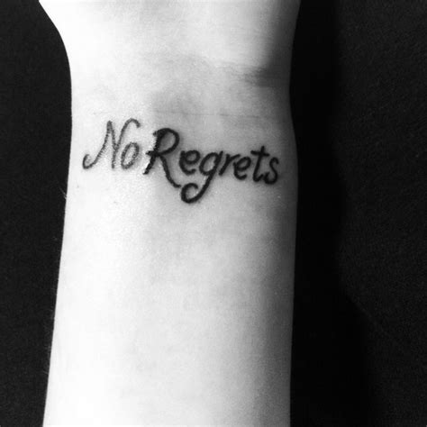tattoo quotes no regrets pinterest discover and save creative ideas