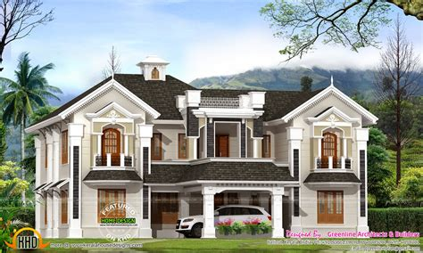 style home plans colonial style house in kerala kerala home design and