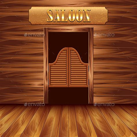 swinging door menu swinging doors of saloon by andegro4ka graphicriver