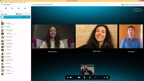 video call layout now you can group video call on skype for free