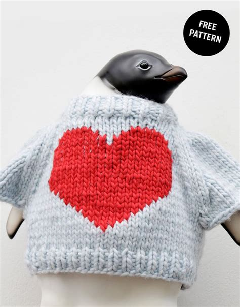 free knitted heart template