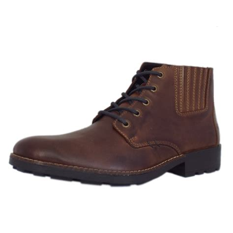 mens leather boots casual rieker sexton 36013 25 s lace up winter boots in