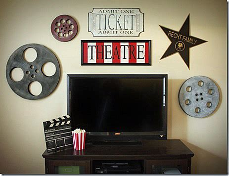 home movie theater decor ideas movie reels for movie film reel decor rustic crafts chic decor