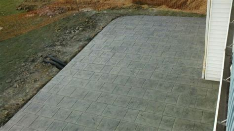 Backyard Creations Indiana Sted Cottage Slate Patio Done By Concrete Creations Llc