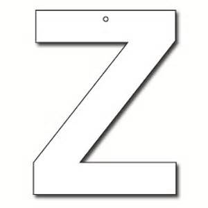cut out letter z cardboard ea party supplies decorations products goods costumes melbourne