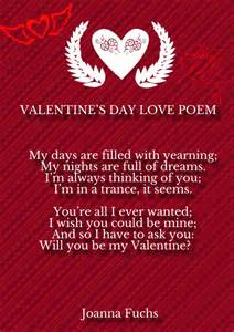 Valentine s day love poems for him and her hug2love